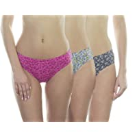 VSTAR Carol Cotton Printed Hipster Inner Elastic Panty Assorted - Pack of 3