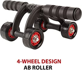 Diswa Fitness Training Equipment ABS Belly Trainer Plastic 4-Wheel Abdominal Wheel Power Ab Roller for Home Gym Muscle Exercise