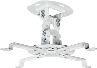 VIVO Universal Adjustable White Ceiling Projector / Projection Mount Extending Arms (MOUNT-VP01W)