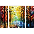 SAF Watercolor Modern Art Painting (Synthetic, 12 inch x 18 inch, Set of 3) SANFJMA9201