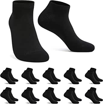 FALARY Trainer Ankle Socks for Men Women 10 Pairs Sport Low short