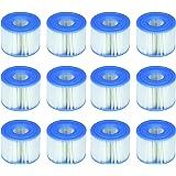 Intex 29001E Lot de 6 Cartouches de Piscine PureSpa Type S1 faciles à Installer (12 filtres) | 2, 1 Paquet Bleu