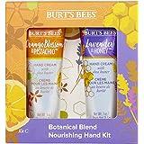 Burt's Bees Botanisk blandning näringsgivande 2 delars handkit - 1 x lavendel och honung handkräm, 1 x apelsinblomma och pist