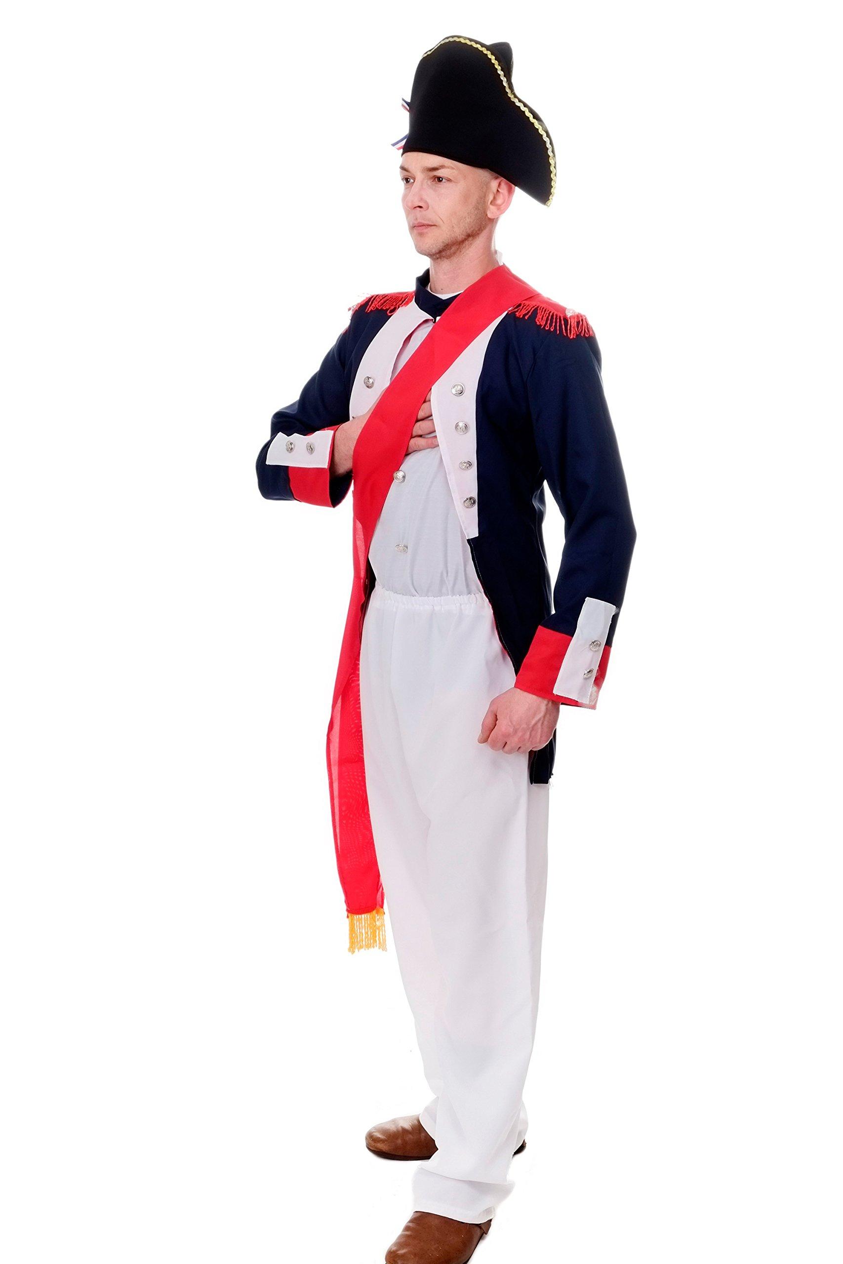 DRESS ME UP Disfraz Hombre señor Disfraz Napoleón Bonaparte 1.3603.L12Francés Revolution Talla S/M L206