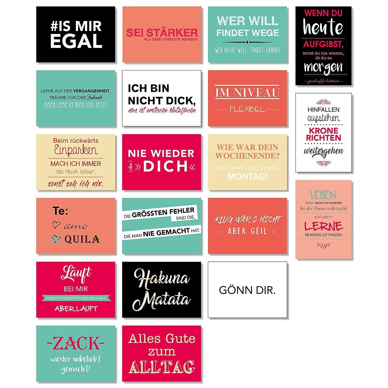 20 Postkarten Mit Spruchen Spruch Karten Set Lustig Grusskartenkaufen De