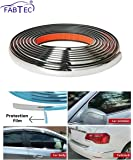 FABTEC Chrome Beading Roll for Side Window, 10 Meter for All Vehicle (15MM)