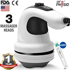 Dr Physio Electric Full Body Massager for Pain Relief of Back, Leg and Foot (Gray)