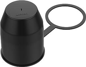 AUPROTEC Schutzkappe Anhängerkupplung mit Sicherungsring Kugelschutzkappe Abdeckkappe mit Schlaufe für Auto Kugelkopf-Kupplung Schwarz