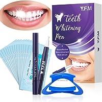 Penna sbiancante per i denti, Y.F.M.Teeth Whitening Kit, Tartaro Rimozione, Penna Sbiancante per Denti più forti e...