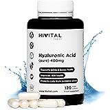 Acido Ialuronico puro 400 mg   120 capsule vegane (4 mesi di fornitura)   Alta dose, concentrazione e biodisponibilità che ma