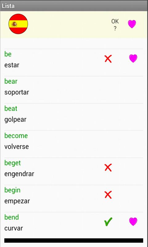 Pendu Verbes Irreguliers Anglais A1 A2 Amazon Fr Appstore Pour Android