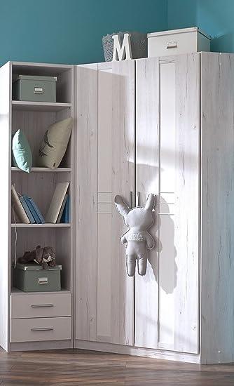 Eckkleiderschrank kinderzimmer  Dreams4Home Eckschrank 'Holmes' - Eckschrank, Aufstellmaß 120 x ...