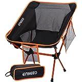 ENKEEO Chaise de Camping Pliable Chaise Camping Ultra-Légères Portatives avec Le Sac de Transport