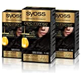 Syoss Oleo Intense - Tinte 1-10 Negro Intenso – Coloración permanente Sin Amoníaco – Cobertura profesional de canas – Resulta
