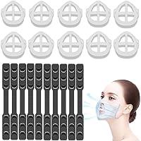 [2 en 1] Support Masque 3D et Attache Masque Chirurgical [20 PCS] CawBing Support pour Masque, Extension Masque [Lavable…