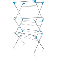 Minky Extra Wide 3 Tier Airer, Metal, Silver, 18 m