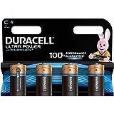 Duracell Ultra Power Piles Alcalines type C, Lot de 4 piles