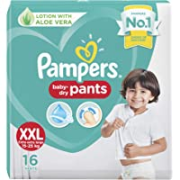 Pampers All round Protection Pants, Double Extra Large size baby diapers (XXL), 16 Count, Anti Rash diapers, Lotion with…