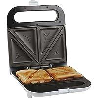 Sandwich Grille-pain 700W Sandwich Maker anti-adhésif automatique de thermostat (protection contre la surchauffe, verschlie ßbarer Poignée, lampe de contrôle, blanc)
