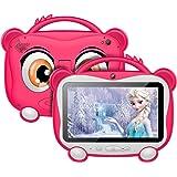 Tablette Enfants 7 Pouces, Certification Android 10.0 Google GMS, Extension de 16 Go de ROM 128 Go, avec WiFi, Bluetooth, Cou