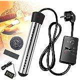 Dompelaar, beweegbare spiraalslang, waterverwarming, 3000 watt, elektrische verwarmingsstaaf met uitschakelfunctie, automatis