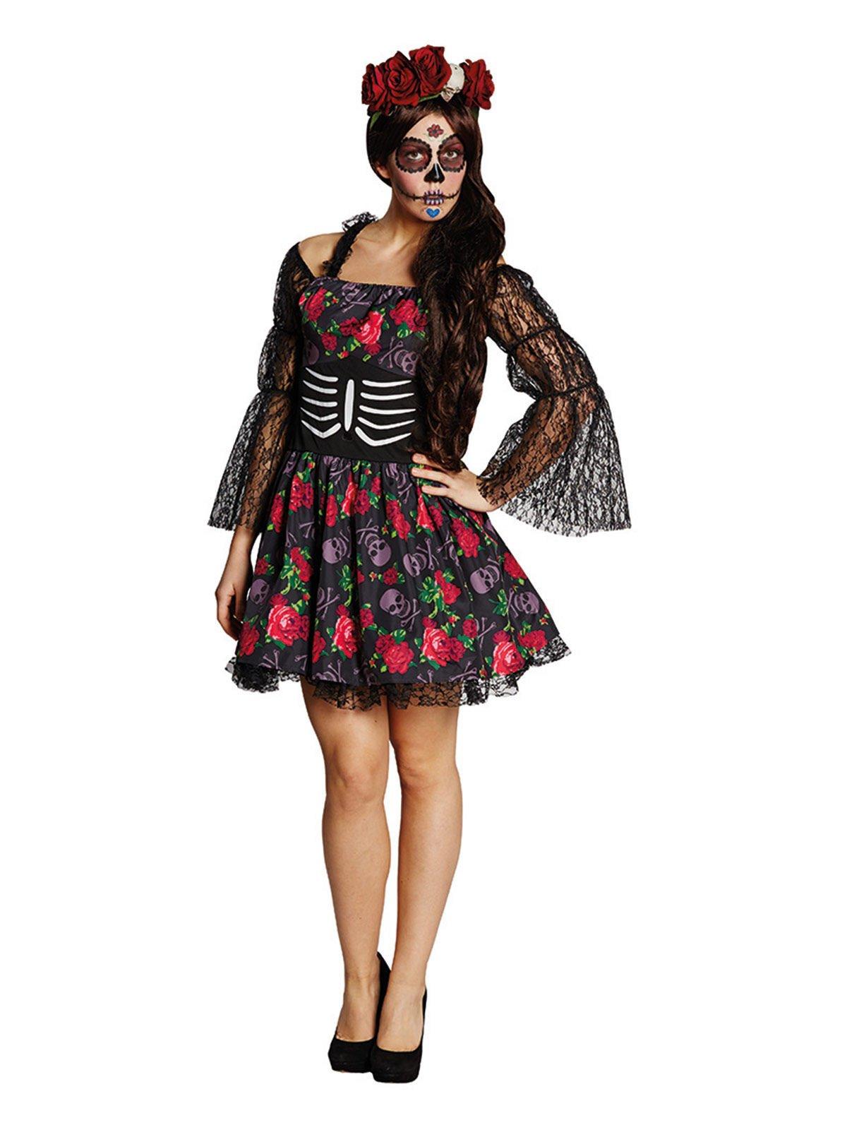 Generique – Disfraz de Esqueleto Día de los Muertos Halloween M / L