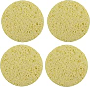 VIYA 4pcs Washing Sponge Nontoxic Round Portable Eco-friendly Facial Puff Face Cleaning Sponge for Makeup Remover Cleansing