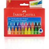 Faber-Castell Triangular Wax Crayons - Set of 24