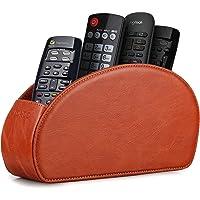 Londo Range Télécommandes à 5 Compartiments - DVD, Blu-Ray, TV, Chaîne Hi-FI, Roku ou Apple TV - Cuir avec Doublure…