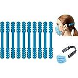 TBOC Verstelbare Maskerverlengingshaak - [Pack 10 Eenheden] Extender Haken [Blauw] Siliconen Hook met Grepen Anti-Aanspanning