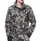Yewei Men Green Camo Camouflage Outdoor Military Jacket Hunter Jacket Coat