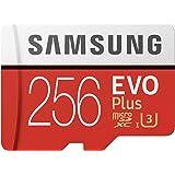 Samsung EVO Plus 256GB microSDXC UHS-I U3 100MB/s Full HD & 4K UHD Memory Card with Adapter (MB-MC256HA)
