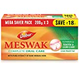 DABUR Meswak: India's No-1 Fluoride Free Toothpaste | Herbal paste made from pure extract of rare Miswak herb - 600g…