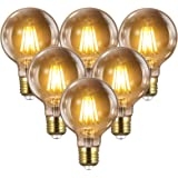 Ampoule E27 Vintage Edison LED - 8W(Égal à 80W) 1000LM / 2700K, YUNLIGHTS 6PCS Rétro G80 Ampoules de Décorative Lampe Filamen