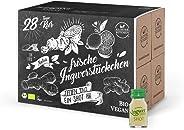 28er Pack Kloster Kitchen Bio IngwerTRINK Shot 30ml, 28x 30ml Ingwer Shot, über 17 Prozent Ingwerstückchen, 28 Shots in EINWE