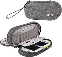 BUBM Sony PSV Tasche doppel - abteil etui, die tasche tragbare reiseveranstalter schutz für PS vita und anderes zubehör, Grau