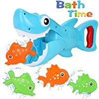 Bammax Baby Bath Toys, Shark Grabber Baby Bath Time Toy Bathtub Toy, Shark Bath Toy Game for 1-2-3-4 Year Old Toddlers…