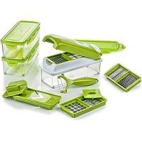 Genius Mandoline Nicer Dicer Smart 14en1 Multifunction Professionelle vert - Coupe-légumes avec Grilles de découpe…