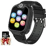 Smartwatch barn telefon – spel musik barn smart klocka [1 GB micro SD ingår] med samtal kamera spel väckarklocka musikspelare