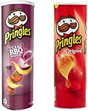 Pringles Potato Chips Combo (Original & BBQ 165 grams), Pack Of 2