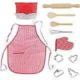 Cucina Giocattolo Grembiule Bambini-Accessori Cucina Giochi Bambina 3 4 5 6 Anni,Pentole Giocattolo Cucine In Legno Per Bambi