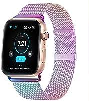 HILIMNY Compatible Correa para Apple Watch 38mm 40mm 42mm 44mm, Malla de Acero Inoxidable Correa de Bucle con, para...