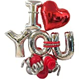 Party Propz I Love You Balloons for Decoration - 26Pcs Kit - for Boyfriend, Girlfriend, Husband, Wife Birthday Anniversary De