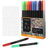 Magicfly Fabric Marker Pens - 20Colors Fabric Paint Pen -Non Toxic, Indelible and Permanent Textile Marker Paint Pen…