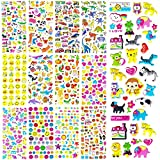 Over 500 Stickers ! Kid's Scrapbook 3D Puffy Stickers - 12 Designs