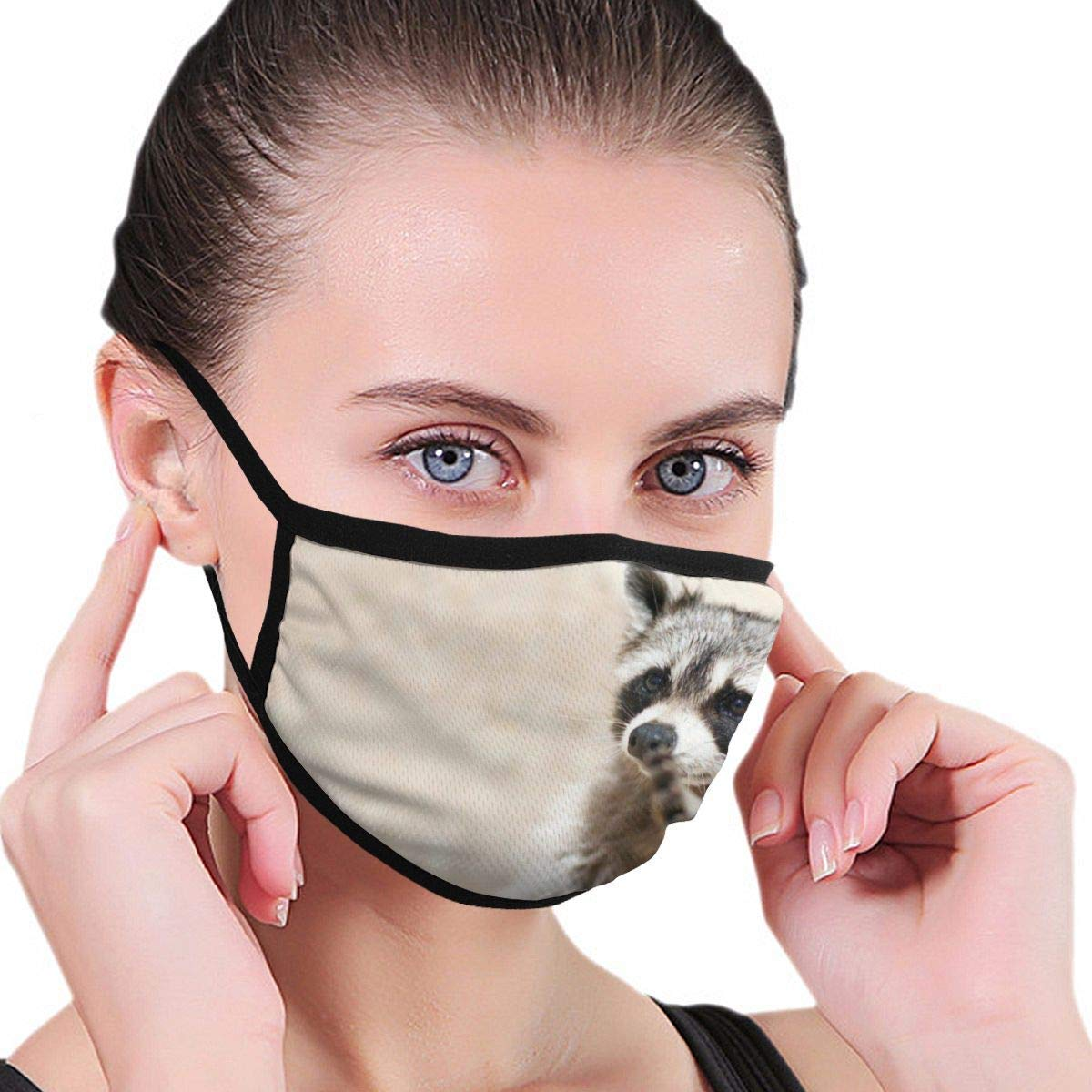 Bdwuhs Mascarillas Bucales Dust Mask Smart Animals Racoon Anti Pollution Breathable Respirator Mask Grade Flu Mask Carbon Activated Filtration – Reusable Washable – Comfy Polyester Adjustable
