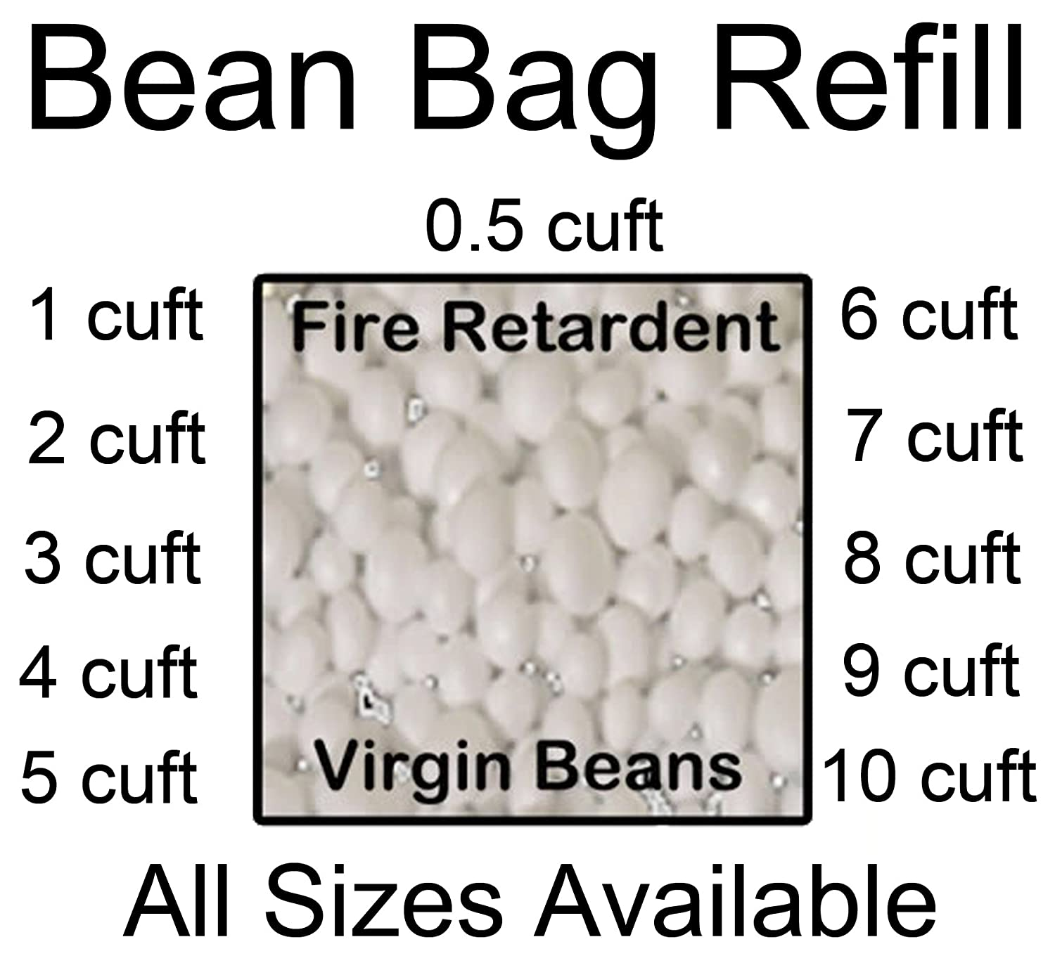 gilda bean bag top up refill polystyrene beads filling bag fire retardent beans 2 cubic foot amazoncouk kitchen u0026 home - Polystyrene Beads