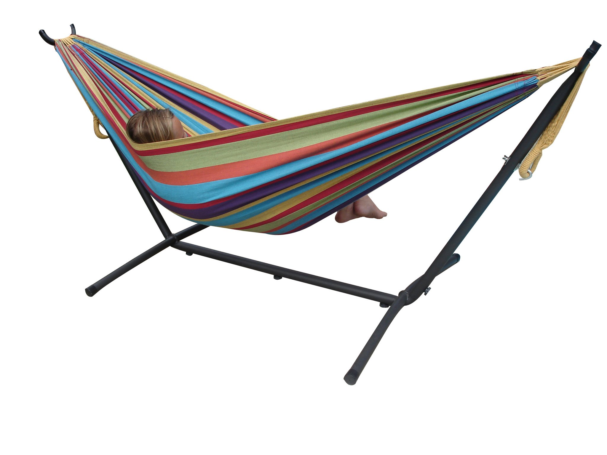 canvas stand standing free stripe blue pin anthony multi with hammock luxury woods