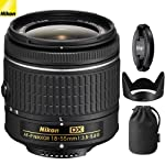 Nikon AF-P DX NIKKOR 18-55mm f/3.5-5.6G Lens 20060B - (Certified Refurbished)