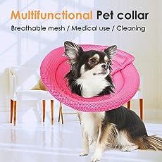 AIHOME Bequemer Schutzkragen Halskrausen Anti-Biss Anti-Lecken-Schaumstoff Innen, Weich, Super Leicht und Langlebig für Hund und Katze